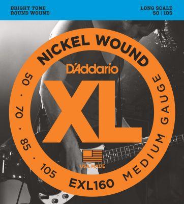 D'Addario XL Nickel Wound Bass 050-105 Long