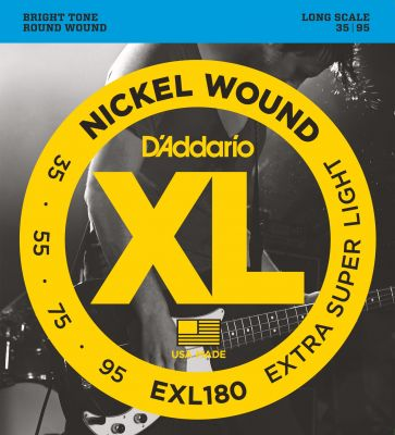 D'Addario XL Nickel Wound Bass 035-095 Long