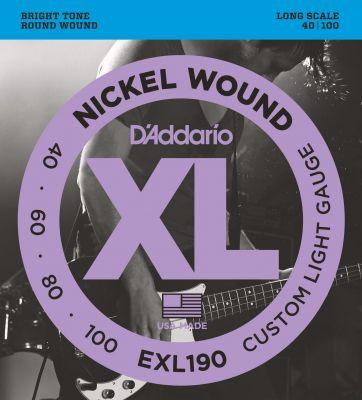 D'Addario XL Nickel Wound Bass 040-100 Long