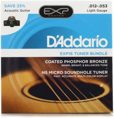 D'addario EXP16-CT15 String And Tuner Bundle