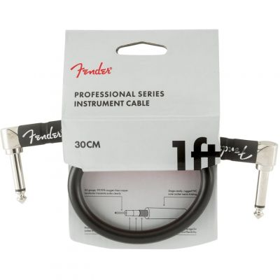 Fender 1 Foot Instrument Cable Black