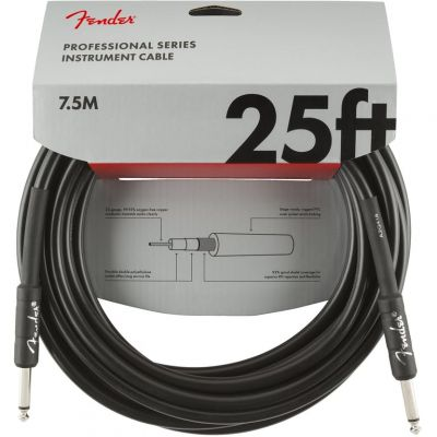 Fender 25 Foot Instrument Cable Black