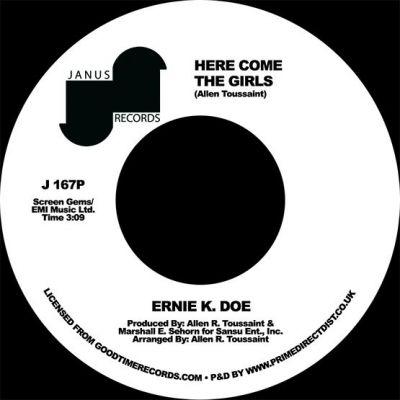 ERNIE K-DOE - HERE COME THE GIRLS/BACK STREET LOVER - 7'' - RSD 2021 - DROP 2