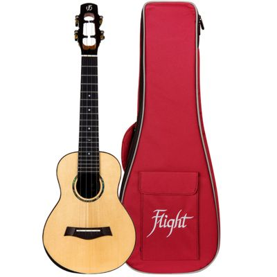 Flight Voyager Concert Ukulele - All Solid Spruce and Acacia