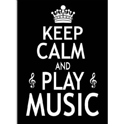 Greetings Card Keep Calm and Play Music
