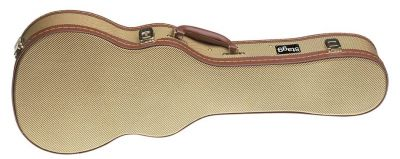 Stagg Tenor Ukulele Case in Gold Tweed