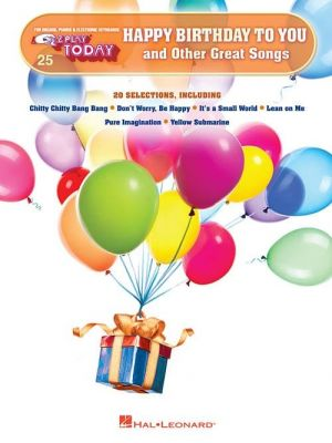 E-Z Play Today - Happy Birthday To You And Other Great Songs