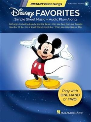 Instant Piano Songs - Disney Favourites (Book + Online Audio Play-Along)