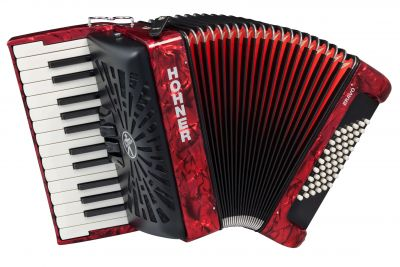 Hohner Bravo III Accordion, 48 Bass, Red