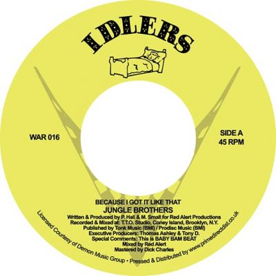 JUNGLE BROTHERS - BECAUSE I GOT IT LIKE THAT - 7INCH - RSD20