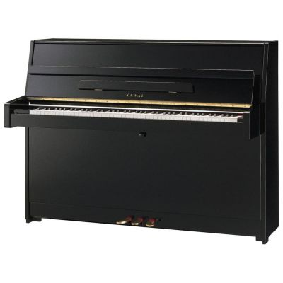 Kawai K15 Upright Piano, Polished Ebony