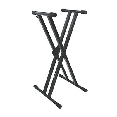 On Stage Pro Heavy-Duty Double-X ERGO-LOK Keyboard Stand