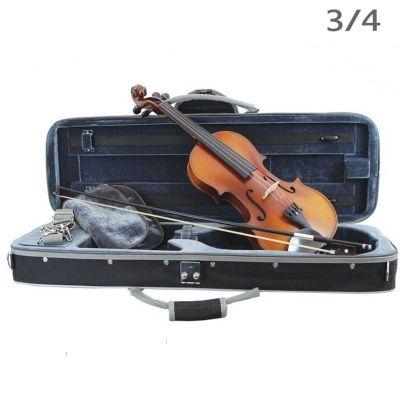 Primavera Loreato Violin Outfit, 3/4 Size, Silver Set Up