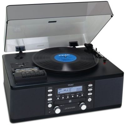 Teac LPR550USB Turntable, Cassette, CD, USB Mini System, Black