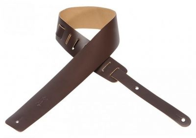 Levys M1-DBR 2 5 Leather Dark Brown Guitar Strap