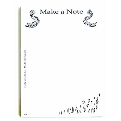 Music Gifts Notepad Make a Note