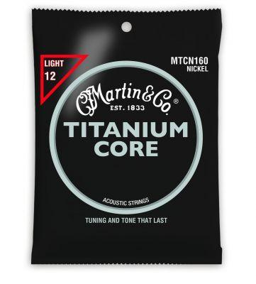 Martin MTCN160 Titanium Core Light Tension Guitar Strings