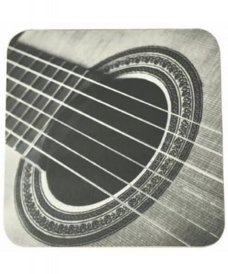 Music Gifts Mugmats Acoustic Guitar (Black and White)