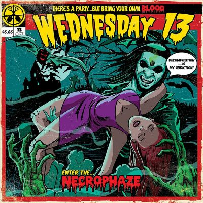 WEDNESDAY 13 - NECROPHAZE - SPLATTER COLOURED VINYL