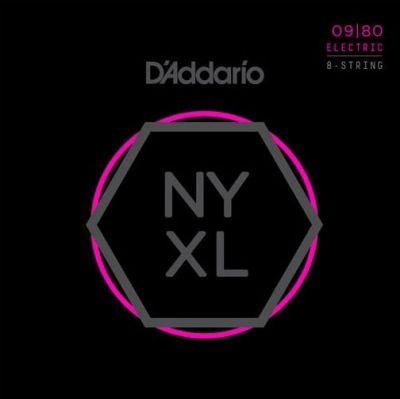D'addario NYXL0980 09-80 Nickel Wound 8-String Electric Guitar Strings