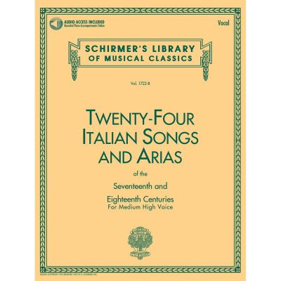 Twenty-Four Italian Songs and Arias of the 17th and 18th Centuries - Medium High Voice (Book + Online Audio)