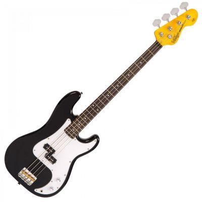 Vintage V4 Bass Guitar Boulevard Black
