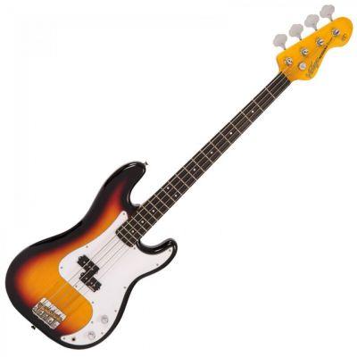 Vintage V4 Bass Guitar Sunburst