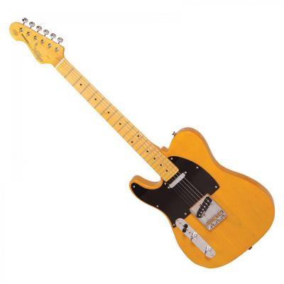 Vintage V52 Left Handed Electric Guitar Butterscotch