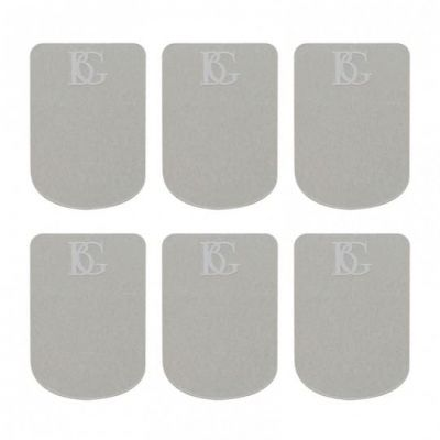 BG Mouthpiece Patch, Sax and Clarinet, Clear, Small, 0.4mm (Pack of 6)