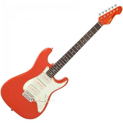 Vintage 3W90 Electric Guitar Firenza Red