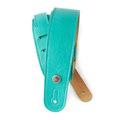 D'Addario Slim Garment Leather Guitar Strap, Teal