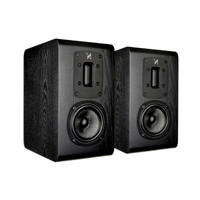Quad S-2 Bookshelf Speakers (pair), Black Oak