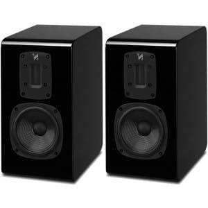 Quad S-1 Bookshelf Speakers (pair), Piano Black