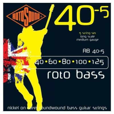 Rotosound Rb405 Nickel (Unsilked) 5 String 40 60 80 100 125