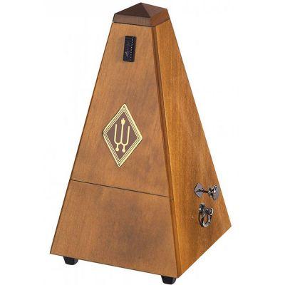 Wittner 1626P Wooden Pyramid Metronome with Bell, Matt Walnut Finish