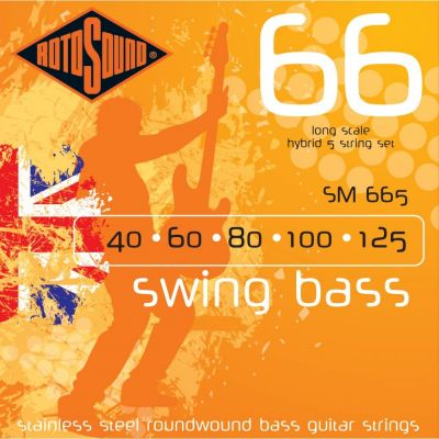 Rotosound Sm665 Stainless Steel 5 String 40 60 80 100 125