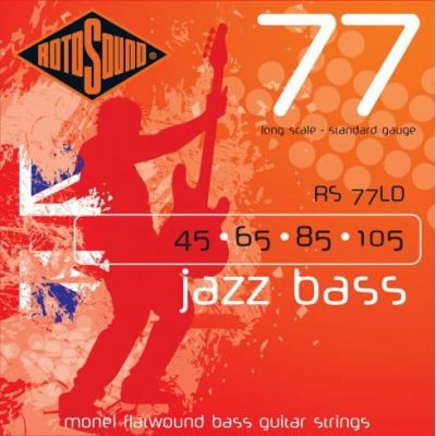 Rotosound Rs77Ld Monel Flatwound 45 65 85 105