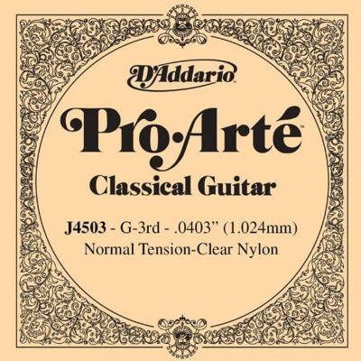 D'Addario Pro-Arte Nylon Classical Guitar Single String, Normal Tension, Third String