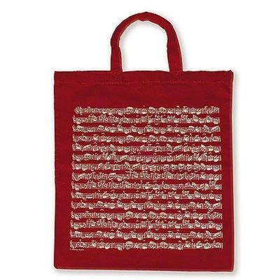 Tote Bag - Sheet Music (Burgundy)