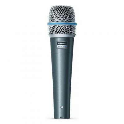 Shure Beta 57A Microphone Aluminium Blue Metallic