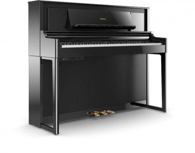Roland LX706-PE Luxury Upright Piano In Polished Ebony
