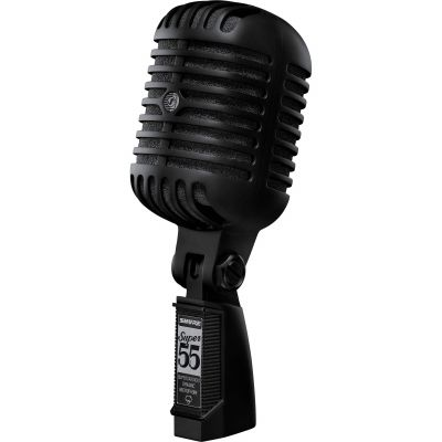 Shure Super 55-BLK Deluxe Vocal Microphone Limited Edition Pitch Black