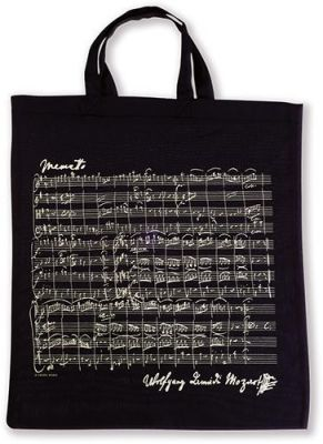 Tote Bag - Sheet Music Mozart (Black)