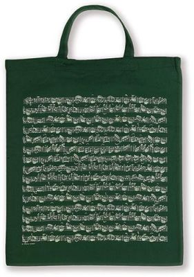 Tote Bag - Sheet Music (Green)