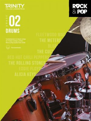 Trinity College London Rock and Pop 2018 Drums Grade 2 (Book + Online Audio)