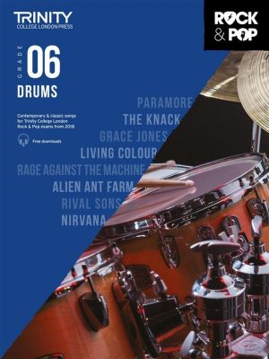 Trinity College London Rock and Pop 2018 Drums Grade 6 (Book + Online Audio)