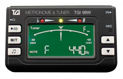 TGI98 Brass and Woodwind Metronome and Tuner with Clip on Mic