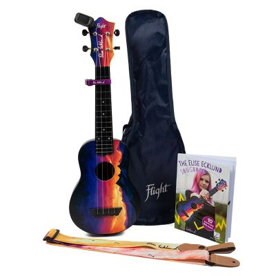 Flight Elise Ecklund Travel Uke Bundle - Sunset