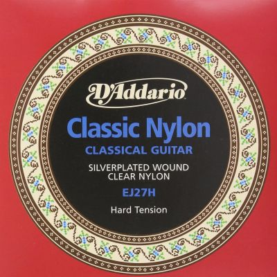 D'Addario Student Nylon Classical Guitar Strings, Hard Tension