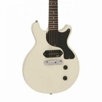 Vintage VR130 Electric Guitar Double Cut Vintage White